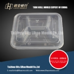 high quality four compartment lunch box mould