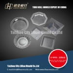 PS square thin wall plate mould