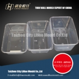500ml 750ml 1000ml thin wall square container mould