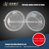 thin wall round container mould with lid