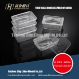 mirror polish thin wall square container mould