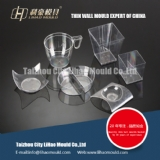 PS square thin wall cup mould supplier