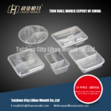 multi compartment round and square lunch box mould